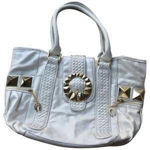 Betsey Johnson Golden Goddess White Leather Bag